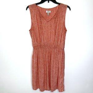 Ann Taylor Loft Coral Dress Sz L